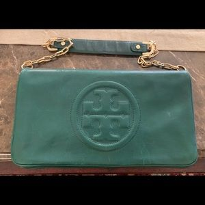 Green Tory Burch purse